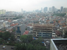 View of the kampung from the mall