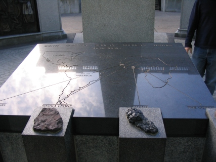 Part of the African-American monument, SC capitol grounds