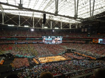 At the NCAA Men's Final Four in Phoenix, Arizona, April 2017