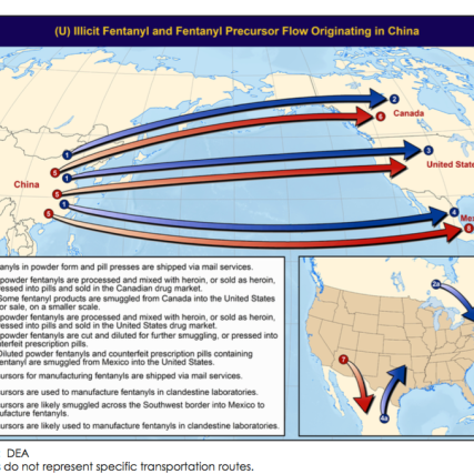 Global fentanyl production and trade